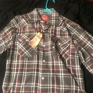 Wrangler RED button down